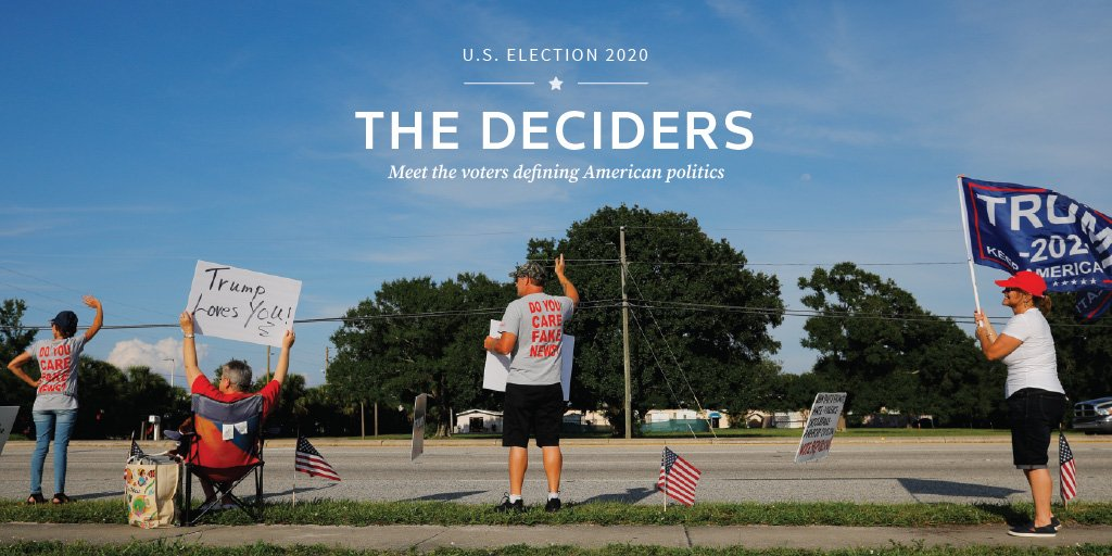 The Deciders: Meet the voters defining America's politics https://reut.rs/2Y2wc8G via @LetitiaStein, @CWKahn @brian_photog and @grantmeaccess