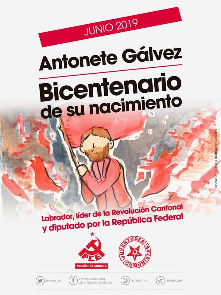 Que no borren ni maquillen nuestro pasado de lucha de la historia. Reivindicamos el #BicentenarioAntonete y la #RevoluciónCantonal #Cartagena