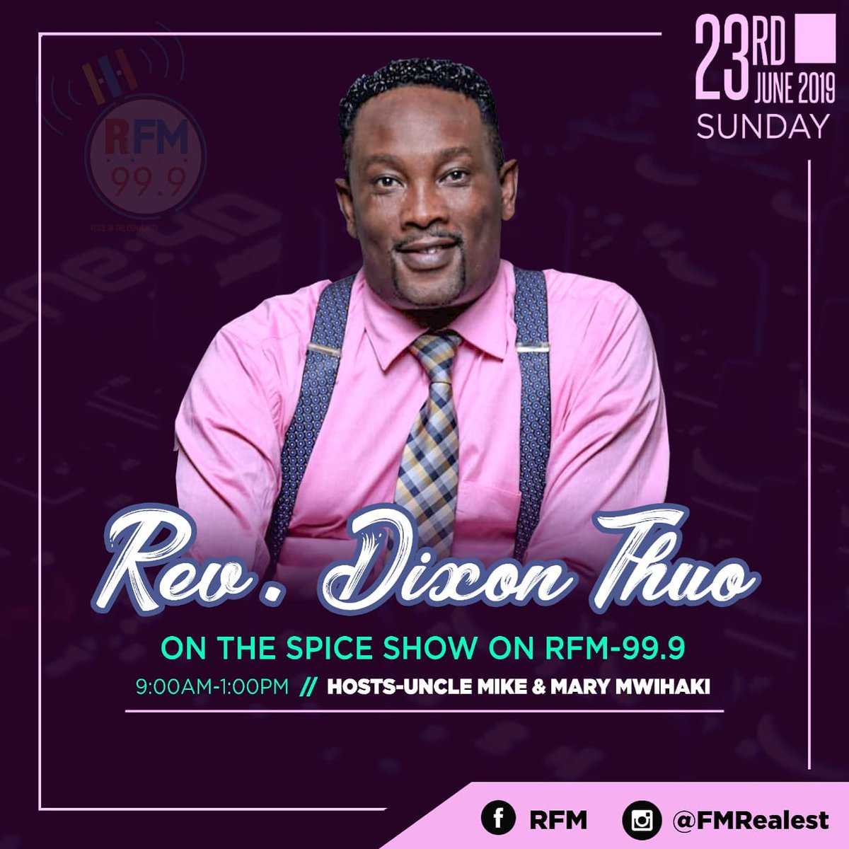 This Sunday on the #spiceshow with @Em_Eye_Kay. Don't forget to watch us live on Facebook page at Realest-fm Radio and follow is on Instagram @realestfmradio