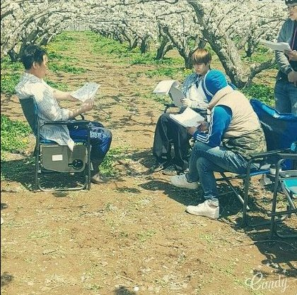 2017: script reading under the cherry blossom tree thinking it was for the reels or new kdrama 2019: farmer kim taehyung to debut in bts world game