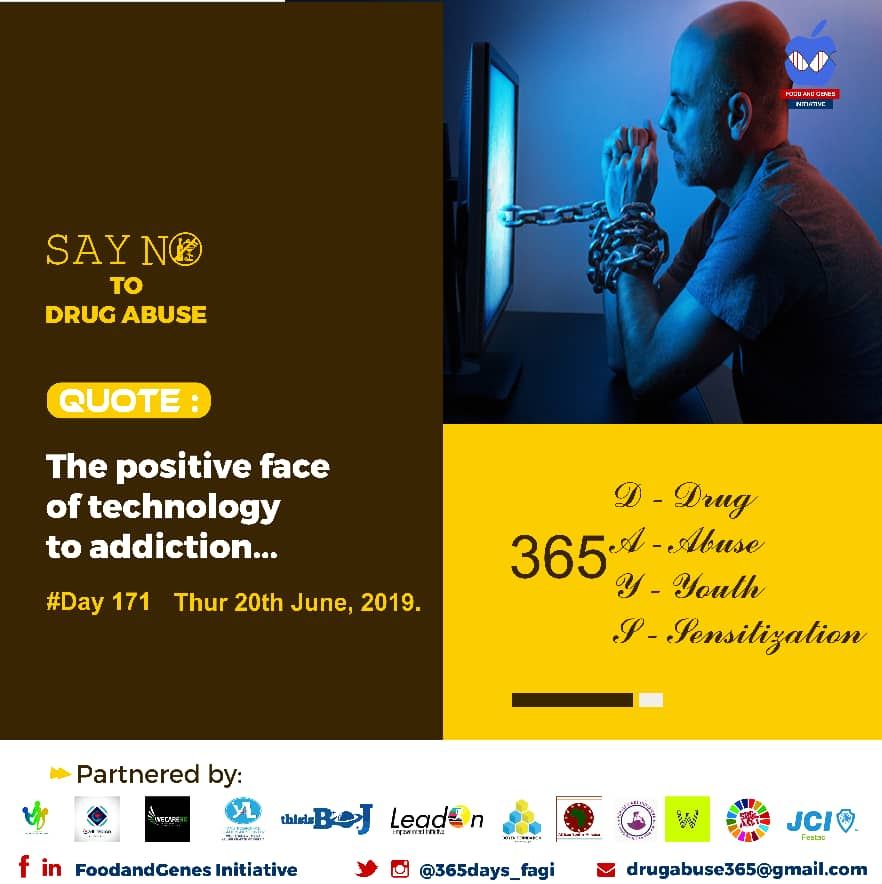 Day 171  The Positive face of Technology to Addiction.  Internet and technological age have had negative impacts as well as positives.   So,technology influences addictionin a positive aspect as well. For instance, it is easier than ever for a person to be able to receive <br>http://pic.twitter.com/Y0KQGOFXFu
