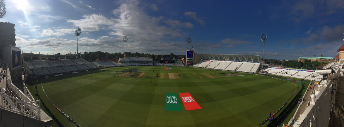 Beautiful sunny morning @TrentBridge.Australia v Bangladesh to come from 1030. Coverage from 9.30 on @5liveSport #BBCCricket #CWC19