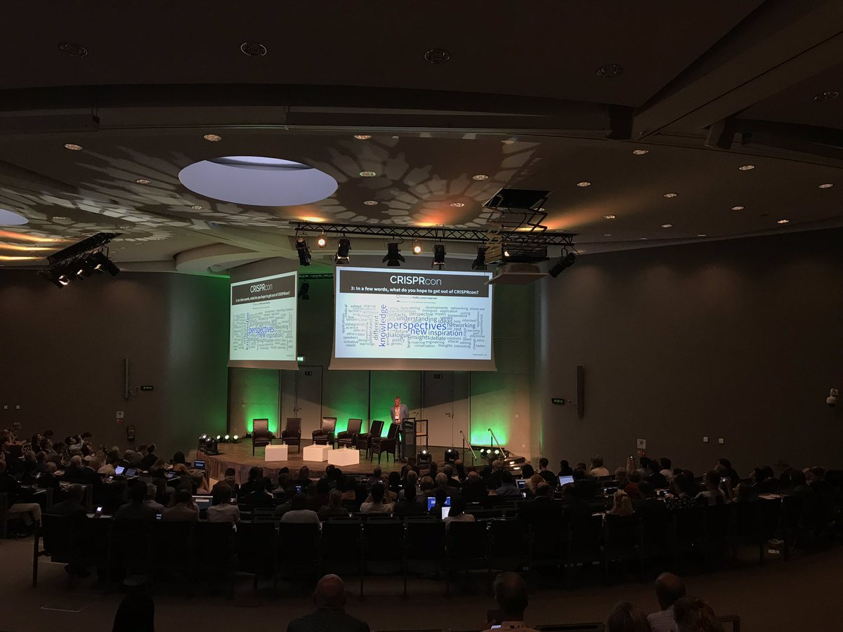 When asked with a quick online poll, participants @CRISPRcon said they hope to get different perspectives among other things - via this word cloud. (zoom-in to the photo). @Bayer4Crops #CrisprCon2019 #CRISPR<br>http://pic.twitter.com/EL8qzmHggi