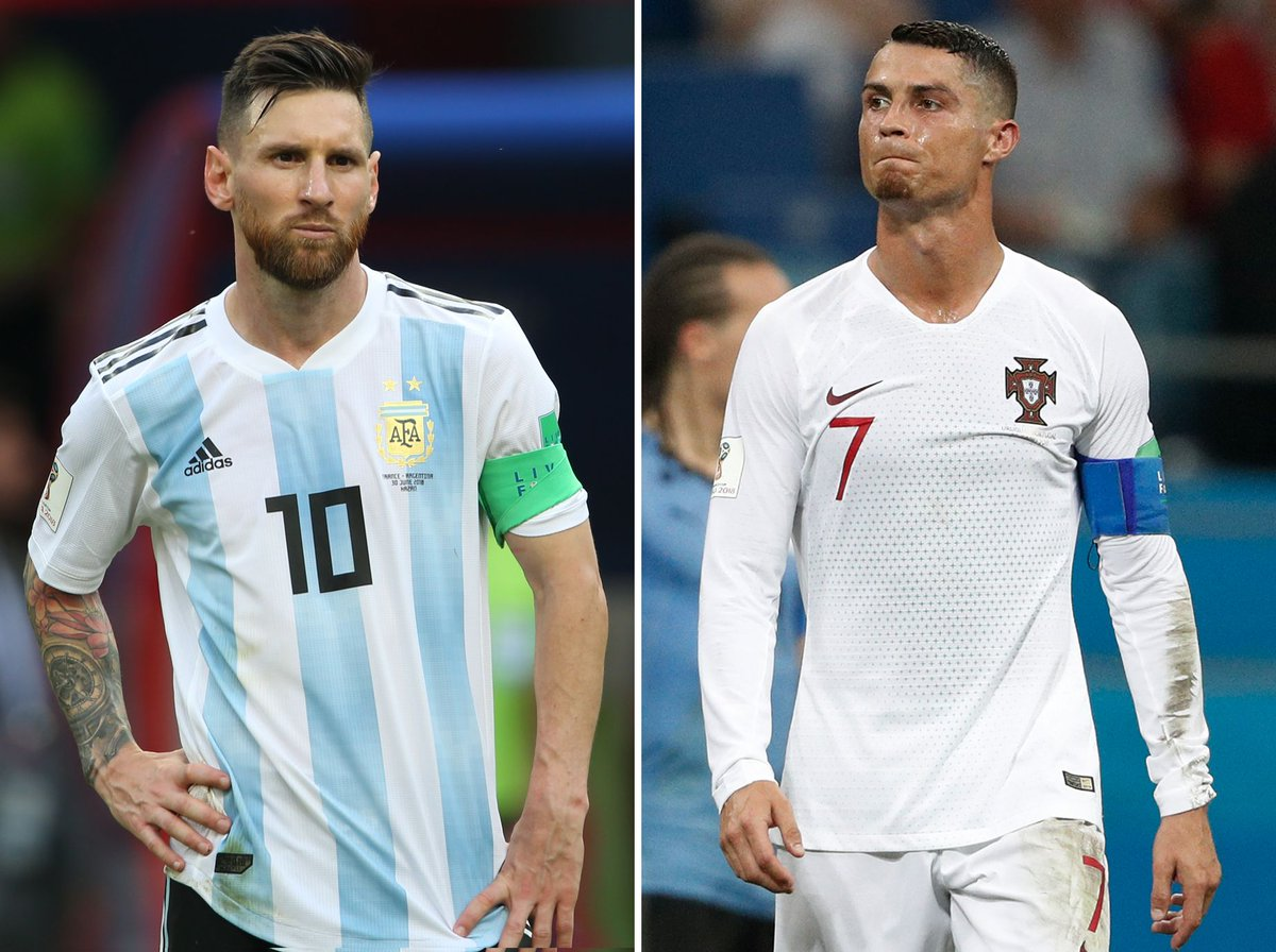 Let's vote! Who is the Goat? Like for messi and retweet for Ronaldo. #KroenkeOut messi Argentina Paraguay Dybala James Rodriguez Davido ThursdayThought Ronaldo<br>http://pic.twitter.com/TqCPfUcP4l