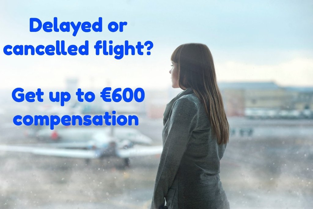 Missed connection, flights delayed +3hrs or canceled -14 days prior to departure can be eligible for compensation of up to €600 ($700) per passenger ON TOP OF rerouting or ticket refund. You can claim here:  http:// air-collect.com     It's EU law. #cancelledflight<br>http://pic.twitter.com/8TX6qgBCWJ