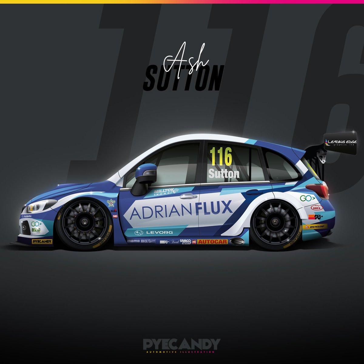 -Whilst chatting to Mal about his #PyeCandy work, we couldn't resist asking him to create a bespoke @ASuttonRacing @TeamBMRRacing work for us... see more at https://www.influx.co.uk/features/a-pye-for-design/?editions=true&utm_source=twitter&utm_medium=referral&utm_content=ashpic&utm_campaign=190619…