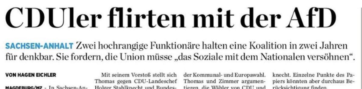 CDU auf Bundesebene: Wir haben doch aber einen Beschluss. Hochrangige CDU vor Ort: Wir müssen das Soziale mit dem Nationalen versöhnen. - Klare Haltung geht anders.