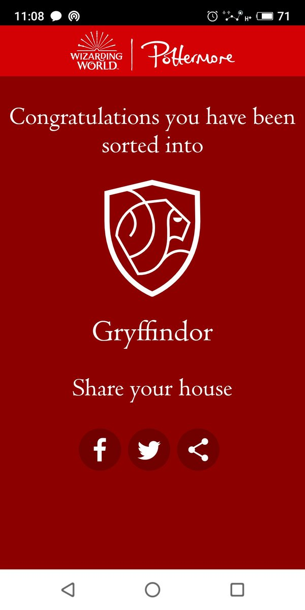 New day - new house. Always been sorted into Ravenclaw. Something has changed   #Pottermore<br>http://pic.twitter.com/0KY2rys2xx