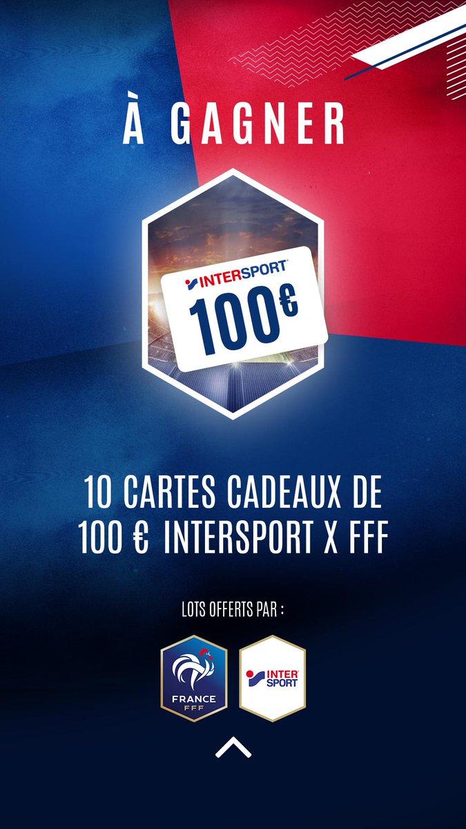 A gagner aujourdhui: 🎁 10 cartes cadeaux @Intersport_FR de 100€ 🤑 ➡ bit.ly/2Zo95FW