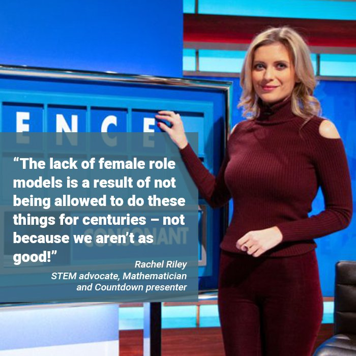 The #WomenInSTEM campaign launches today in preparation of @INWED1919 - distributed within @newscientist and online at ow.ly/BH1250uI526 featuring @RachelRileyRR speaking about re-writing the stories we tell young women and girls