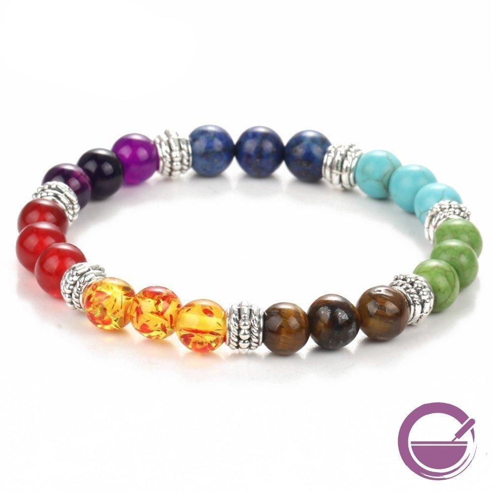 #braceletsfromastone #braceletsofday #chakra #chakrabeads #chakrabracelet #gems #healing #healingjewelry #yogabracelet Women's Chakra Beaded Bracelet