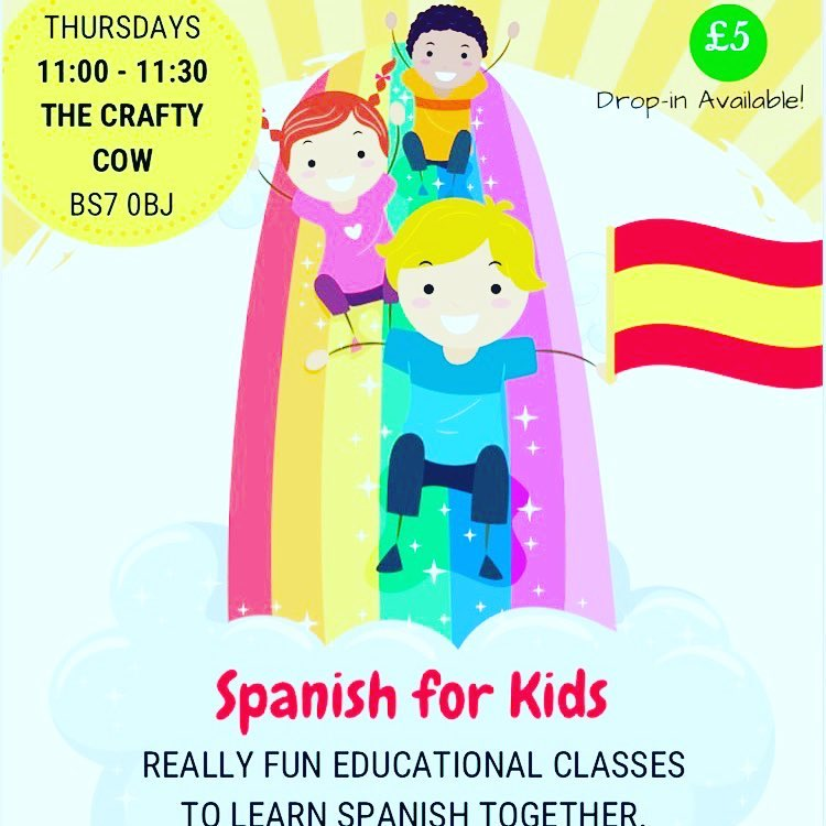 Join us Thursdays at 11am for Spanish for kids The Crafty Cow with de colores spanish  #espanol #spanishlanguage #learningspanish #learnspanish #spanishlessons #languages #language #spanish #spanishclasses #speakspanish De Colores Spanish