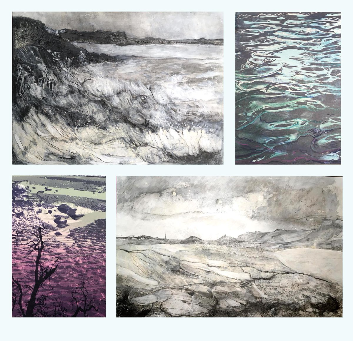 Just as well I have made #water a feature of my work for the past 6 months- I have seen a lot of it still fascinates me though #screenprinting #painting #drawing #gesso #graphite #seascape #landscape #art might start looking at #Thunderstorms