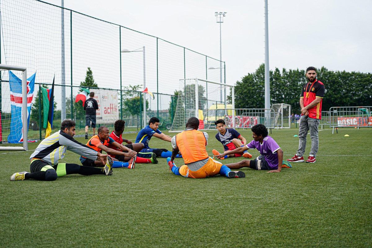 Today is #WorldRefugeeDay. Our tournament #iedereenophetveld / #toussurleterrain has started #equalgame #foot4all