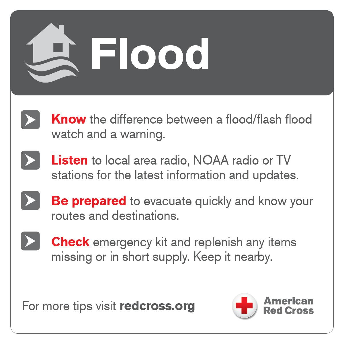 Some areas in #NJ are experiencing flooding due to heavy rains throughout the night. Never drive or walk through a flooded area! #Flood