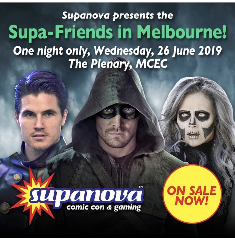 See you next week Melbourne! @StephenAmell @italiaricci @SupanovaExpo See you tomorrow Sydney :)