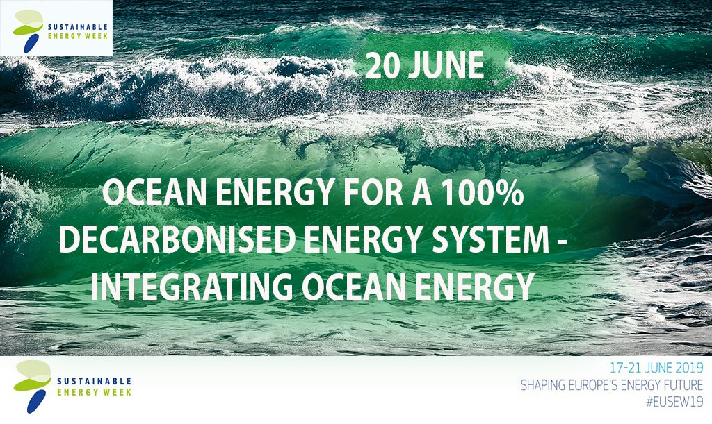 #EUSEW19  #OceanEnergy technologies are necessary to achieve the full #decarbonisation of the energy sector. Today's session presents innovative initiatives showcasing various ways to integrate ocean energy in the energy system. 📺🔴LIVE from 14.00 CET http://europa.eu/!wN68TN
