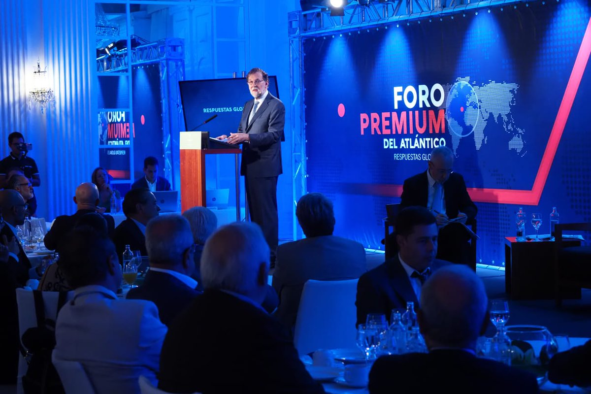 Muchas gracias al Grupo Plató del Atlántico y al @diariodeavisos que me han invitado a participar en el Foro Premium del Atlántico y exponer los retos a los que se enfrenta España ante un mundo en transformación.