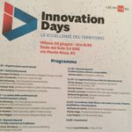 Image for the Tweet beginning: Il programma di #innovationdays. Segui