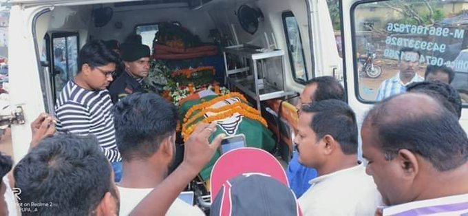 BJD, BJD Party Flag Above Tiranga On Pulwama Martyr's Body For Photo-Op Is Disrespectful & Shameful!