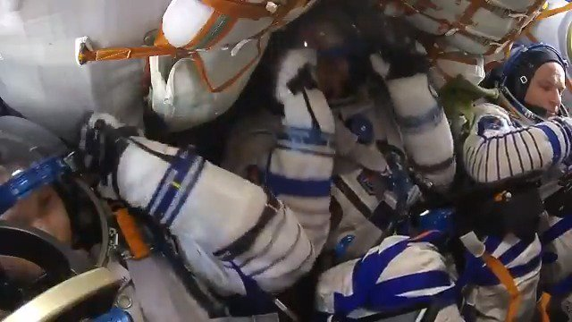 L-4 (1 of 2): Landing preparations are in full swing. In addition to Sokol suit leak checks, we are spending time today in the Soyuz practicing landing procedures. Right now, the thought of coming back to Earth feels as foreign as launching to space did 6.5 months ago….