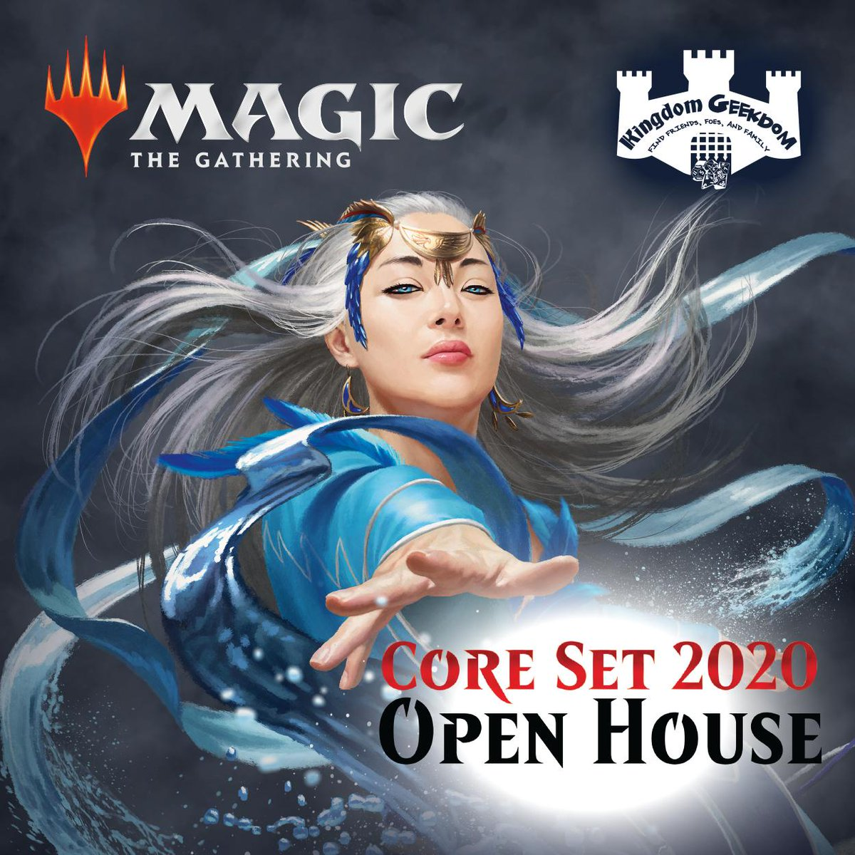 Next weekend is #LearntoPlay #OpenHouse for @Magic: The Gathering's #M20 set! Stop in any time Satuday and we'll teach you to play as well as give you a #FREE deck. Come back for #FridayNightMagic because your first #FNM with us is FREE! Everyone loves #FreeStuff!