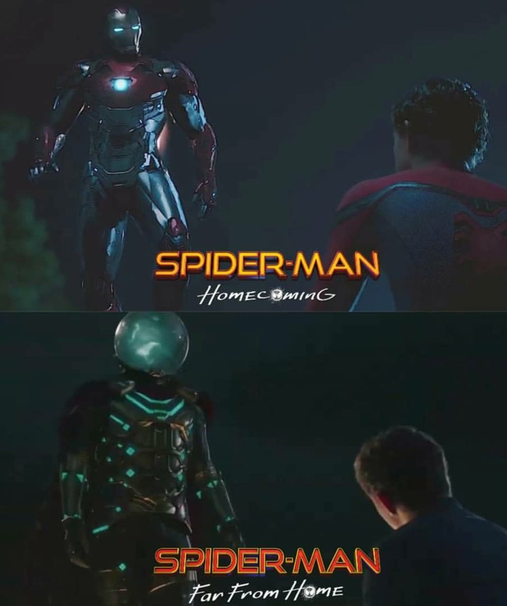 #SpiderMan will have a new idol to look up to in #SpiderManFarFromHome. After the fall of father-figure Tony Stark, Peter puts his faith into #Mysterio. But knowing all that we do from the comics, can we really trust him? And are we ready to see Peters heart break once again?
