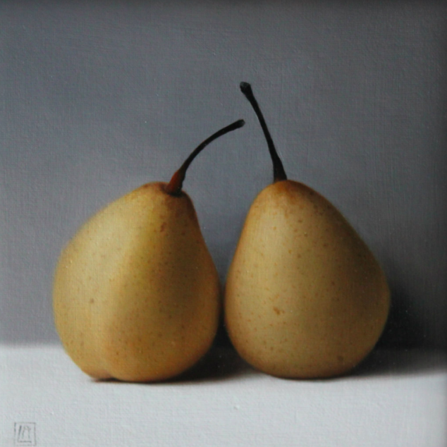 'Chinese Pears.' #Painting by Linda Alexander #art https://t.co/ivVXL15Ei9