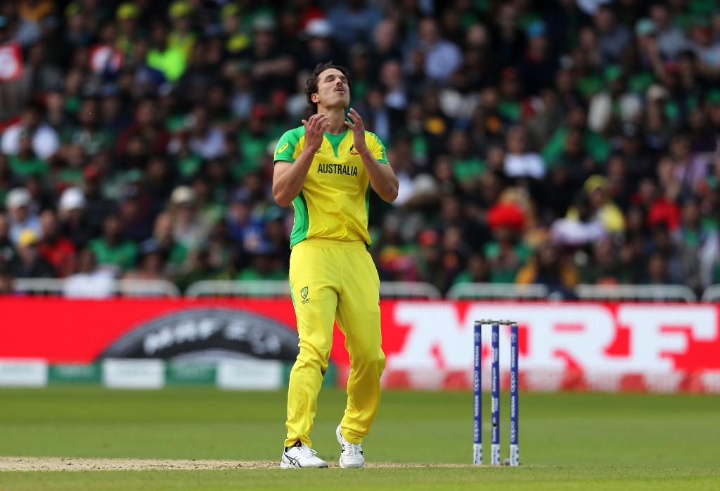 It's been an excellent start to the chase at @TrentBridgeAustralia struck early, #AaronFinch removing Soumya Sarkar with a direct hit, but Shakib Al Hasan looks in excellent touch once more and has led Bangladesh to 98/1 at the first drinks break. #CWC19 | #AUSvBAN
