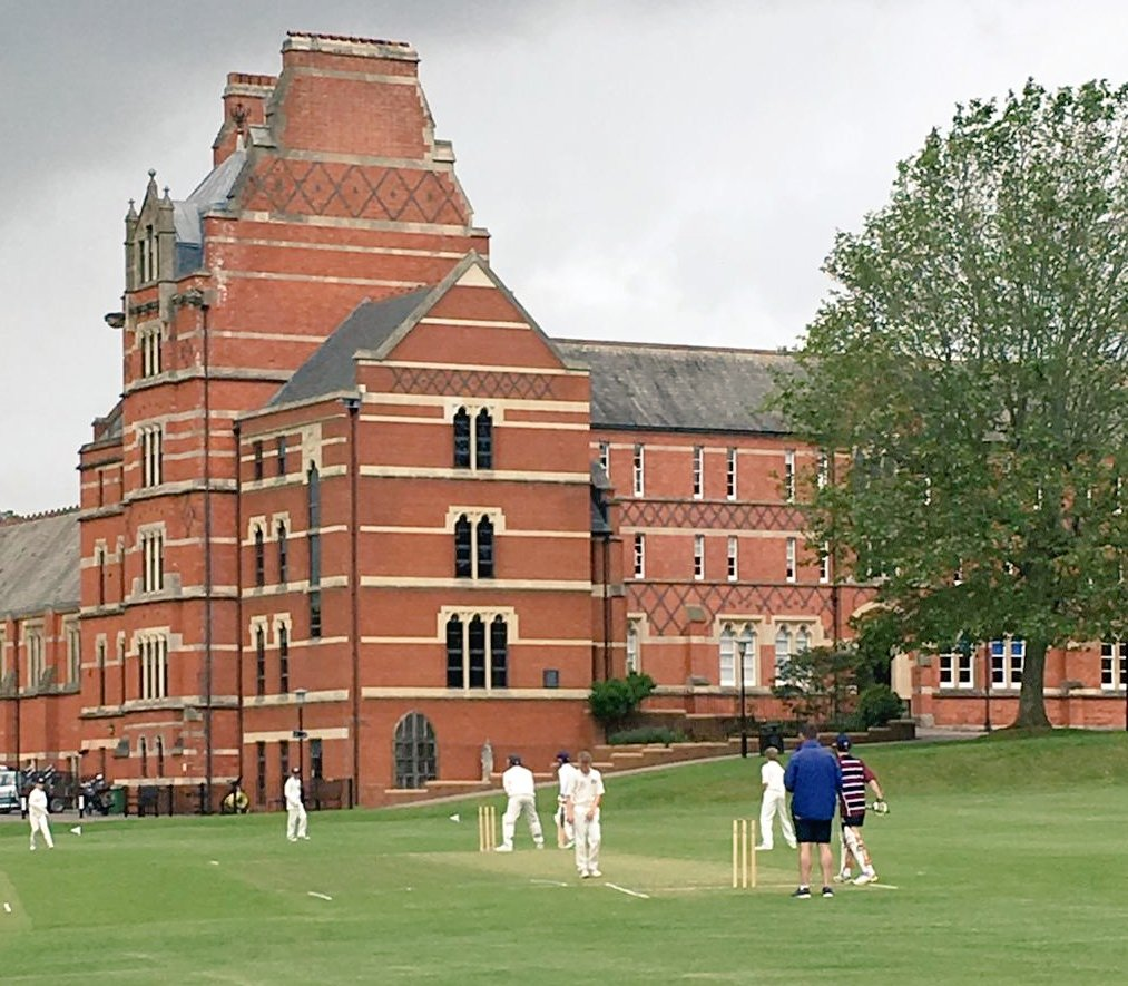 The field is set, the rain held at bay.  The annual Year 7 match against @ExeterSchoolUK begins. @SportBeechen