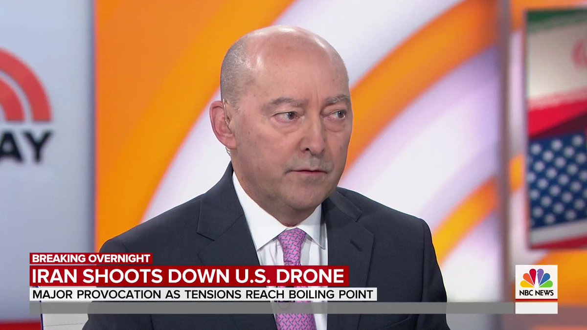 ".@stavridisj weighs in on the U.S. drone shot down in international airspace by Iranian forces.  ""This is a significant step up from what we saw last week with the tanker attacks."""