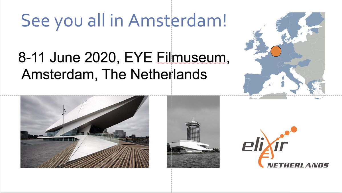 Next year in Amsterdam! Jaap Heringa the Head of @ELIXIRNL is announcing that the next ELIXIR All Hands will take place in Amsterdam! It's been a pleasure to seeing you here in Lisbon, looking forward to seeing you next year in Amsterdam! #ELIXIR19