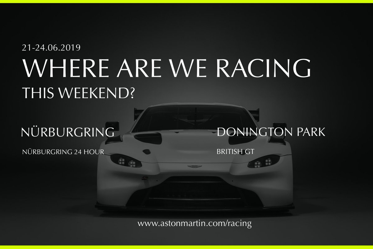 Only just recovered from staying up all night to watch Le Mans? Well, we have another action-packed weekend coming up for you. Maybe it's time to book Monday off work... #24hNBR #BritishGT