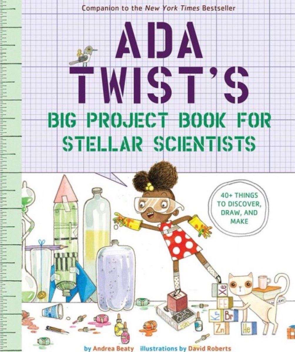Looking for books for your classroom or school libraries or makerspaces that inspire Ss to design, build, make & create? Check out these STEM project books by @andreabeaty & featuring beloved characters Ada Twist, Scientist, Rosie Revere, Engineer & Iggy Peck, Architect