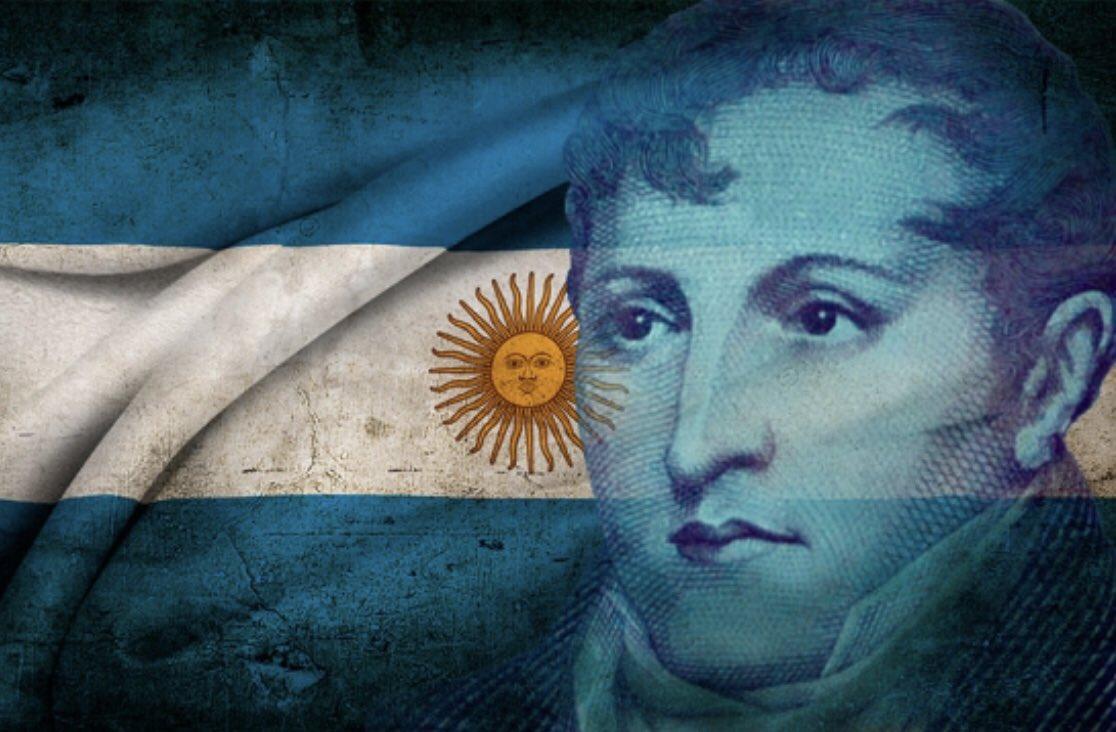 """Feliz día bandera de mi patria!! 🇦🇷🇦🇷       """"Mucho me falta para ser un verdadero padre de la patria, me contentaría con ser un buen hijo de ella"""" Manuel Belgrano."""