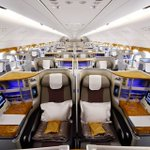 Image for the Tweet beginning: Emirates becomes first airline to