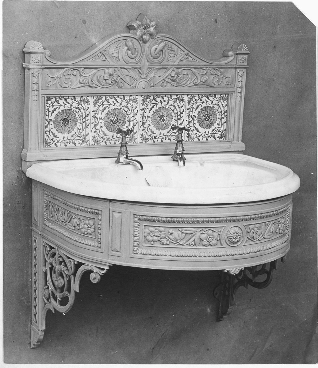 For the @ARAScot 'What's in #ArchiveBox 13' game and for #IronworkThursday here's a circa 1895 cast iron 'lavatory stand' from the Lion Foundry collection (GD10/7/4/13/1) @EDLC_Culture