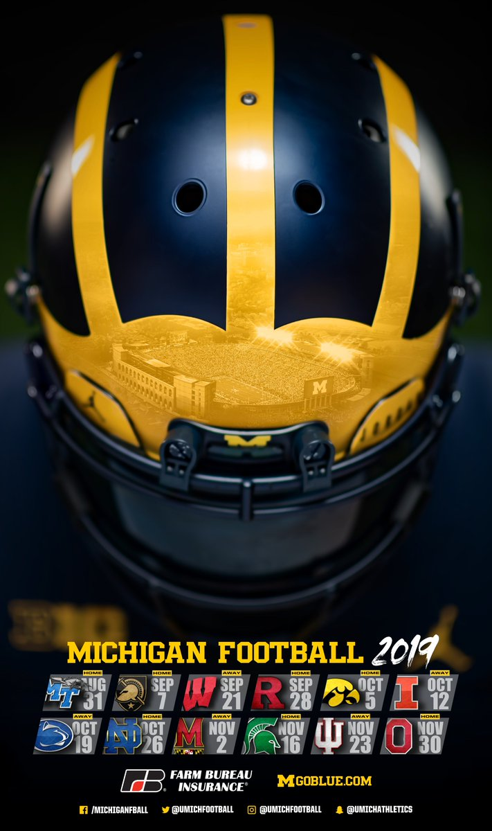 Michigan Football On Twitter The Official 2019 Schedule