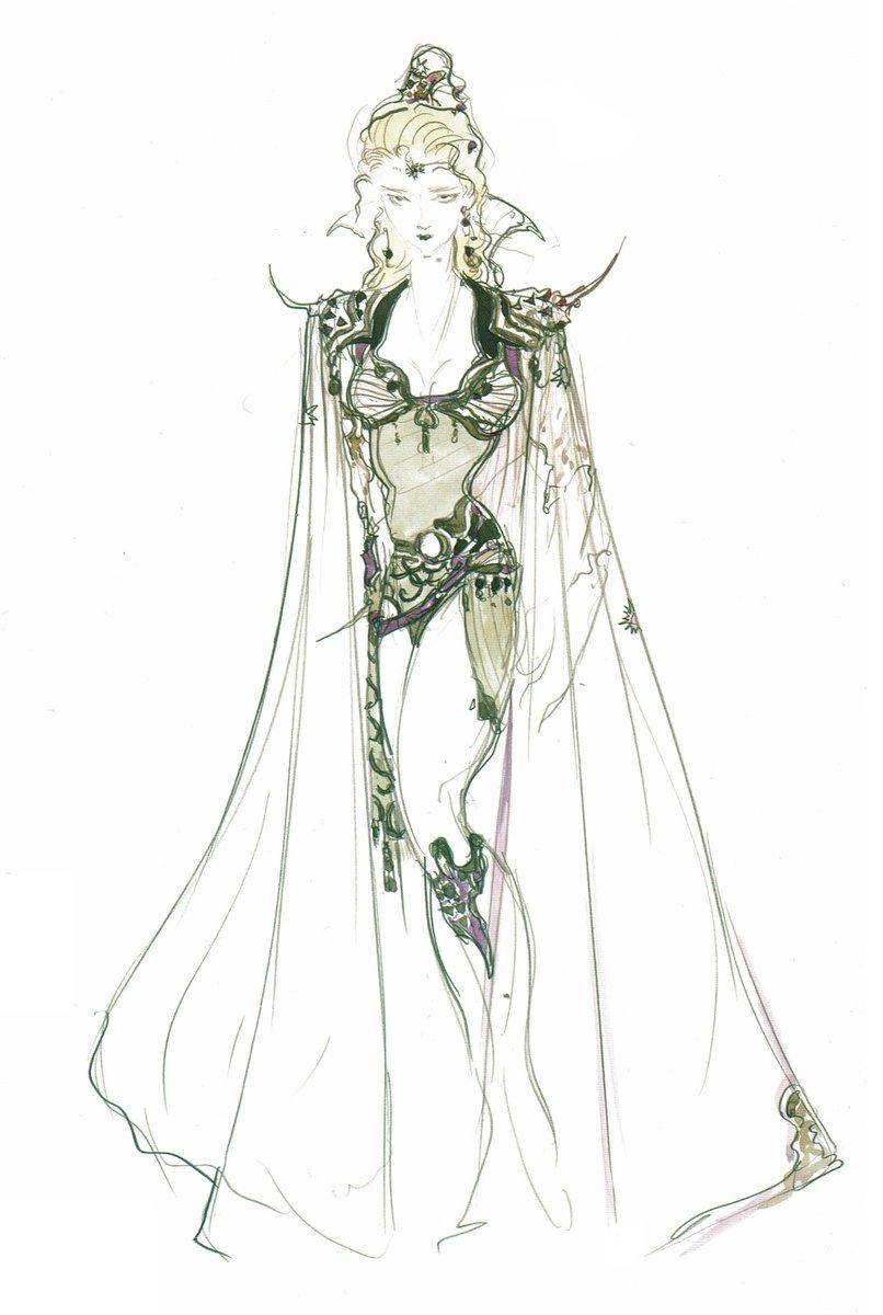 Videogameart Tidbits On Twitter Final Fantasy Iv Yoshitaka Amano S Rosa Farrell Artwork