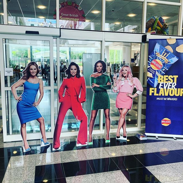 ✌🏼 The guys over @walkers_crisps brought the #SpiceGirls over to our Head Office yesterday (albeit cardboard ones) along with some of their crisps for our colleagues to tuck into. Who remembers the original Spice Girls / Walkers campaign? #wemakemorrisons #girlpower #zigazigahh