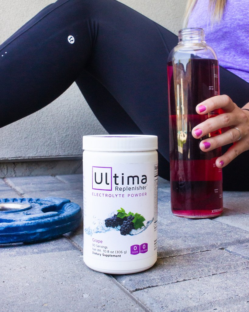 Grape Ultima got us through our workout this morning. What about you? 🍇 #GoUltima . . . . #ultima #ultimareplenisher #stayhydrated #hydrateyourself #electrolytes #zerocalories #zerosugar #nothingartificial #keto #activelifestyle #hydrate #summer #grape #gymtime #legday