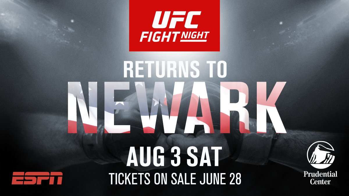 NJ, we're coming! #UFCNewark