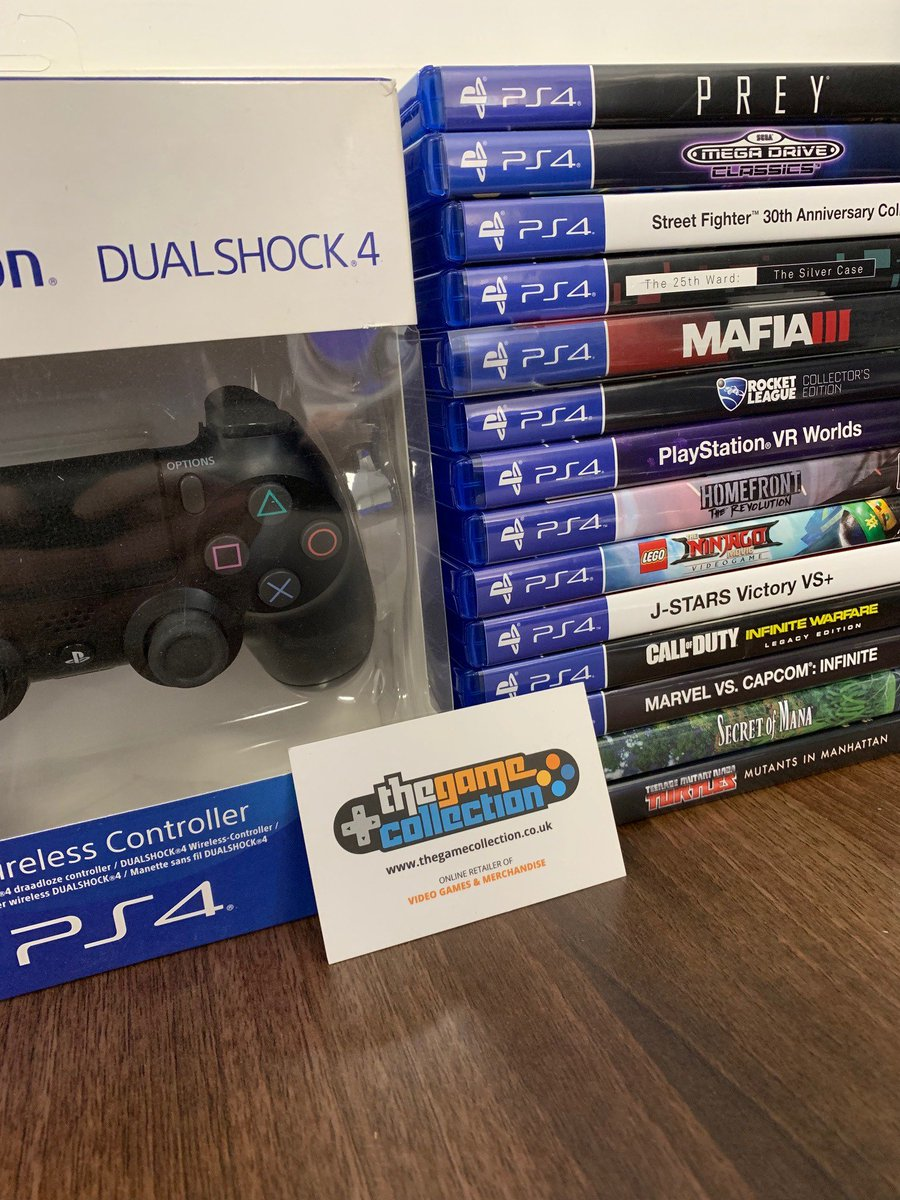 FOLLOW US AND RETWEET to win a  slightly damaged 'Black Dualshock 4 Controller' and these 14 dented/pre-owned PS4 games! The winner will be announced on TUESDAY 25/6/19 at 3pm! #competition #giveaway #PS4 #denteddelights #dualshock4