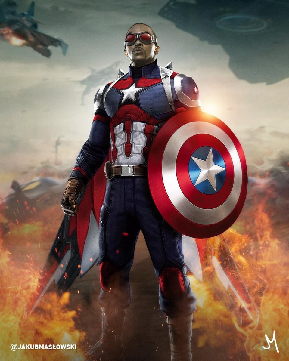Like/RT if you're HYPE for Sam Wilson as Captain America! #TheFalcon #CaptainAmerica #MCU