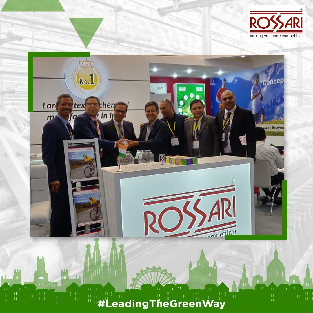 Guess where we are? At the biggest international textile event of ITMA, Barcelona. Spain, why don't you join us at our stall, we'll be around till the 26th of June 2019.  #RBL #RossariBiotechLimited #Biotech #Industry #Textile #LeadingTheGreenWay #GoGreenWithRossari #ITMA
