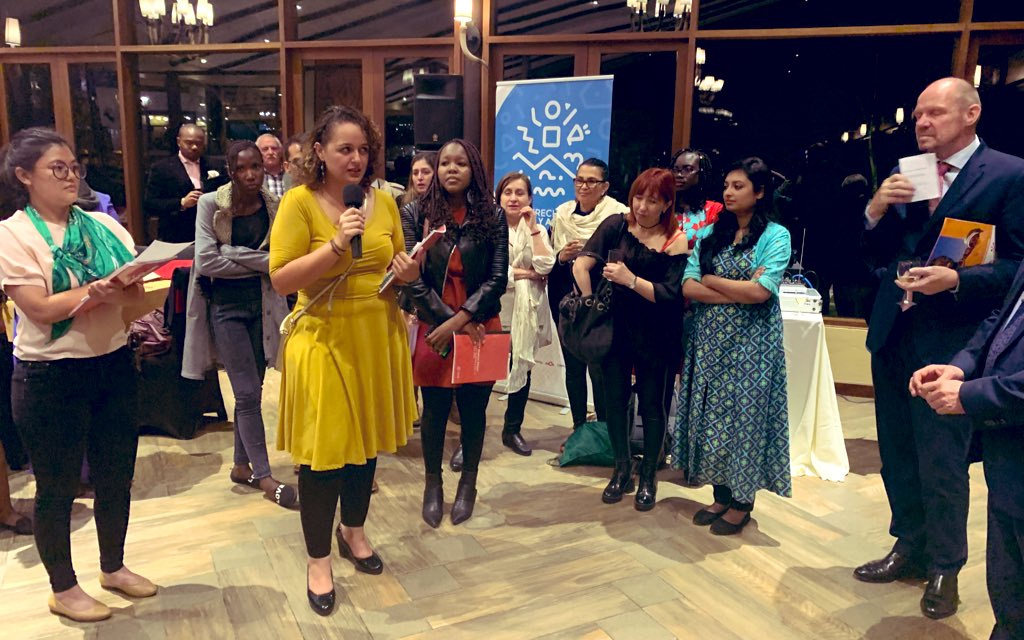 At a special reception in Kenya, our youth advocates explained to @UNFPA why inclusive representation at the #NairobiSummit is essential to advance the #SRHR of all. https://www.rutgers.international/news/news-archive/youth-advocates-share-pressing-recommendations-unfpa-run-nairobi-summit … #RoadToNairobi