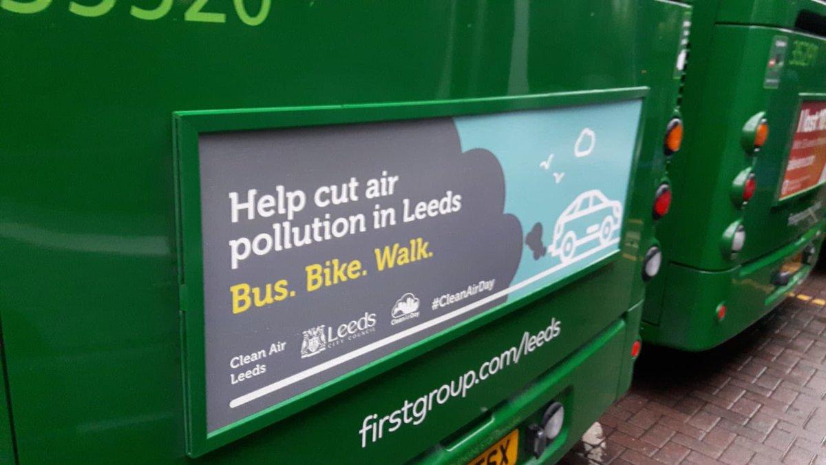 Seen one of these around the city yet? You will soon! Help cut #airpollution in #Leeds bus, bike, walk #LetLeedsBreathe #cleanairdayleeds @living_leeds @CleanAirLeedsCC @SustransYorks @OurFutureLeeds @LeedsClimateCom working together for a cleaner greener city