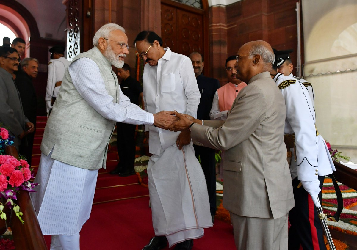 Rashtrapati Ji's address to Parliament was both inspirational and aspirational. It covered several aspects, including our nation's successes and the challenges that we have to mitigate in the coming years. presidentofindia.nic.in/speeches-detai…