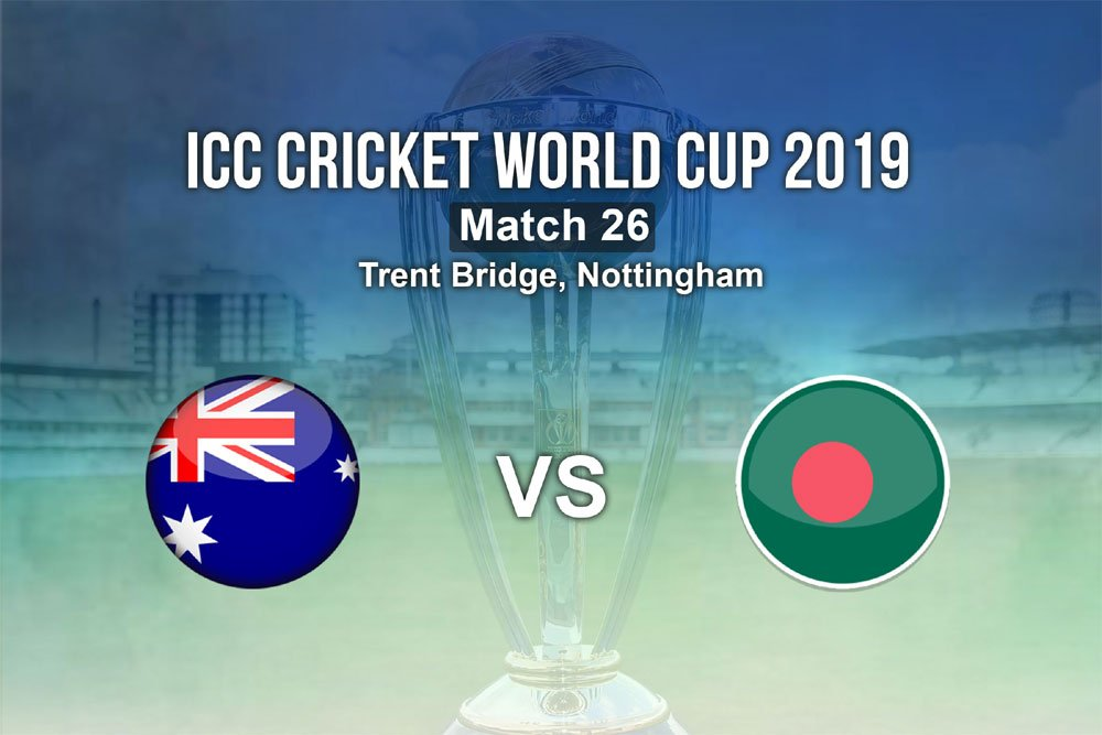 #AUSvBAN And suddenly it's raining. Play stopped. #AUS 368/5 (49)#CWC19 #CricketWorldCup #Cricket #TrentBridgeFollow LIVE Updates And Live SCORE Here: https://bit.ly/2Ir00GI