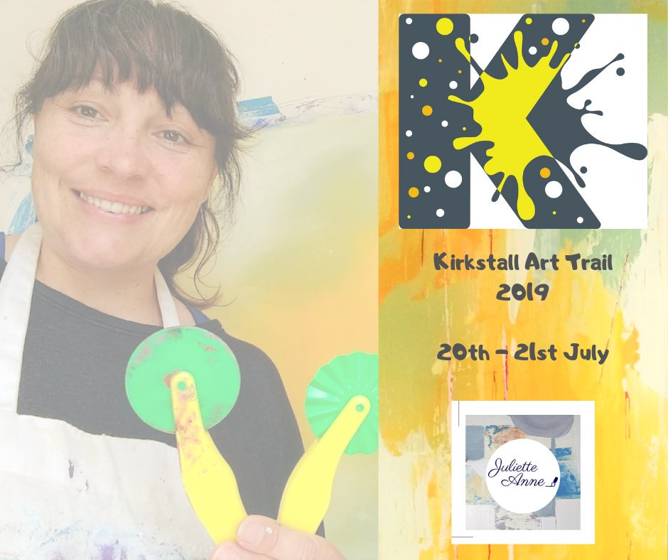 ***Save the date*** 20th&21st July 2019 @KirkstallArt Trail only 4weeks away! I will be with 12 other creative souls @TCVhollybush centre #kirkstall #Leeds Map details coming soon 💃